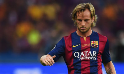 BERLIN, GERMANY - JUNE 06: Ivan Rakitic of Barcelona in action during the UEFA Champions League Final between Juventus and FC Barcelona at Olympiastadion on June 6, 2015 in Berlin, Germany.  (Photo by Laurence Griffiths/Getty Images)